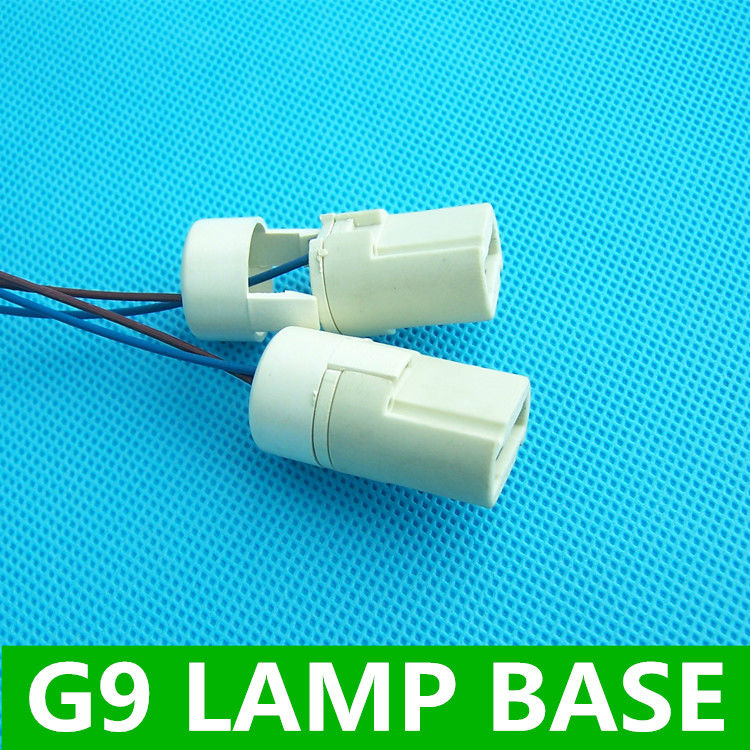 G9 lamp base 250v2a pottery and porcelain socket holder 6pcs/lot Ceramic Lamp Base connector led Halogen Lamp Bulb Holder(China (Mainland))