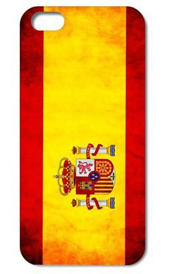 1pc Retail Spain National Flag Retro style Hard Case Cover for iphone 4 4S 5 5S 5G free shipping(China (Mainland))