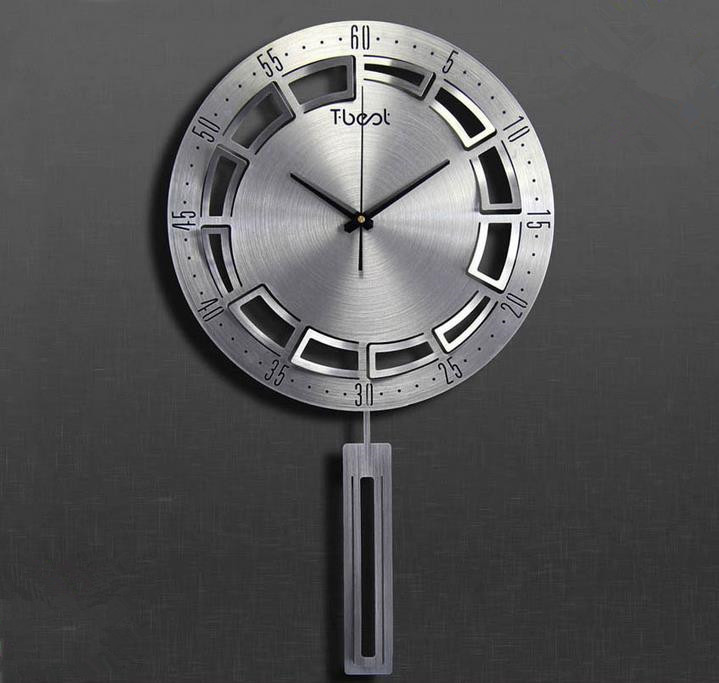 16 inch 3d metal brief living wall clock modern design bedroom horloge murale - Decoration murale design metal ...