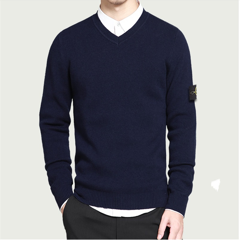 2016 Men's POLO Italy stones Sweater Korean-style New Arrival Casual Splicing Pullover Sweater Drop Shipping(China (Mainland))
