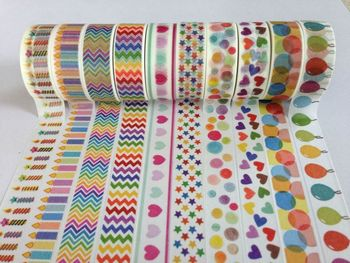 2033 designs, Coloful DIY decorative rice paper tape,  Japanese masking tape wholesale, 140pcs/lot Free shipping by express,