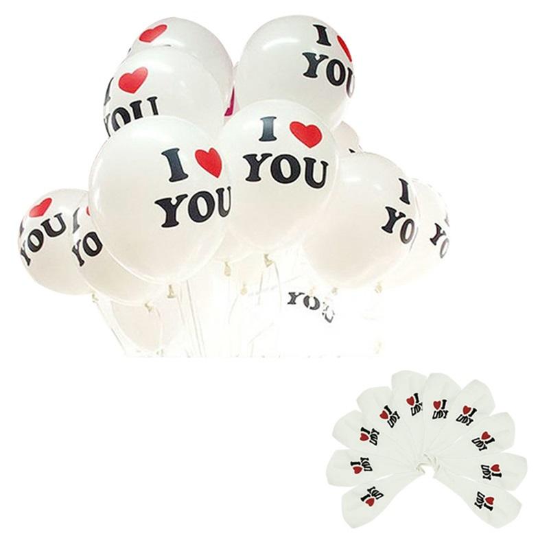 Durable 10Pcs/Lot 12 inch I LOVE YOU Pearl Latex Balloons Globos ballons For Christmas Wedding Decorations Fast Shipping(China (Mainland))