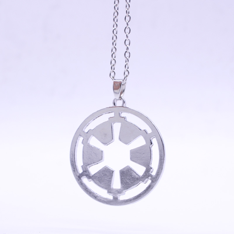 Surrounding The Film STAR WARS Galactic Empire Logo Stainless Steel Pendant Necklace Wholesale Trade Selling Products Worldwide(China (Mainland))