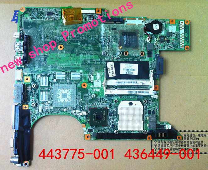 Motherboards for HP Pavilion DV6000 443775-001 436449-001 for compaq V6000 443777-001 for AMD mainboard Integrated 100%TESTED(China (Mainland))