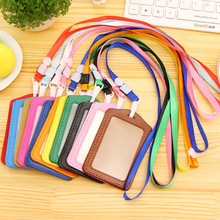 credit card wallet women men bank card bag black card Case Bus ID holders candy colors Identity badge with lanyard