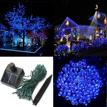 Hot Sale 100 LED 17M Solar Power Waterproof  IP44 Outdoor Garden Christmas Xmas Party Decoration String Fairy Strip Light Lamp