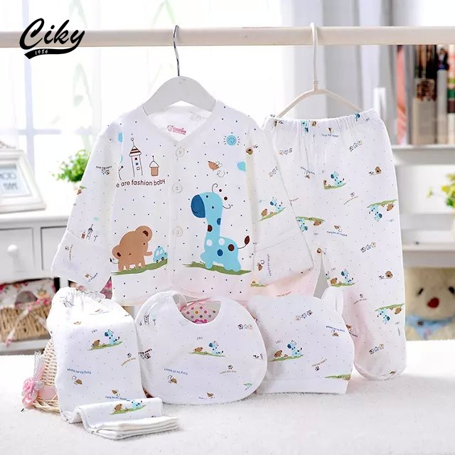 (5pcs/set)Newborn Baby 0-3M Clothing Set Brand Baby Boy/Girl Clothes 100% Cotton Cartoon Underwear,Free Shipping(China (Mainland))