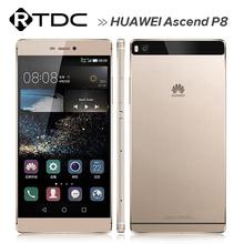 Original Huawei Ascend P8 Mobile Phone 4G FDD LTE Kirin 935 Octa Core Android 5.0 5.2 Inch IPS  3GB RAM 64GB ROM 13.0MP(China (Mainland))