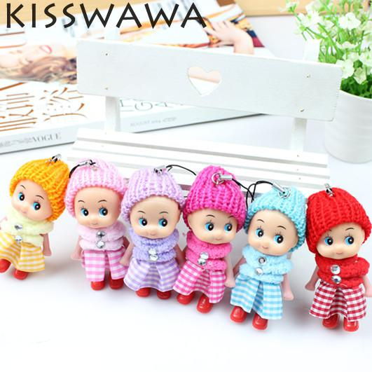 2016 NEW Kids Toys Soft Interactive Baby Dolls Toy Mini Doll For girls and boys 6pcs/set(China (Mainland))