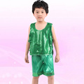 Dance Clothes Boys Sleeveless T Shirt Shorts Suit Fashion Dancewear Kids Clothing Sets Children s Day