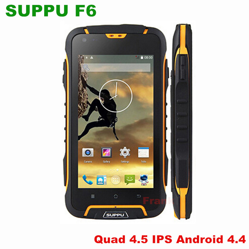 unlocked original SUPPU F6 MTK6582 Quad Core IPS rugged Smartphone IP68 Waterproof phone GPS Android 4.4 Dustproof Shockproof z6(China (Mainland))