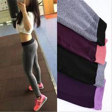 S-XL 4 Colors Women Fitness Leggings Elastic Comfortable High Waist Surper Stretch Sport Workout Trousers Leggings 4 Quarter 659(China (Mainland))
