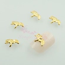 100pcs/lot Animal Style Elephant Shape Metal Alloy Charms Gold Plated 3D Nail Art Jewelry Accessory DIY Decoration Manicure Tool(China (Mainland))