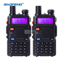 2 piece baofeng UV-5R dual band walkie talkie radio transceiver dual display radio communicator UV5R portable walkie talkie set(China (Mainland))