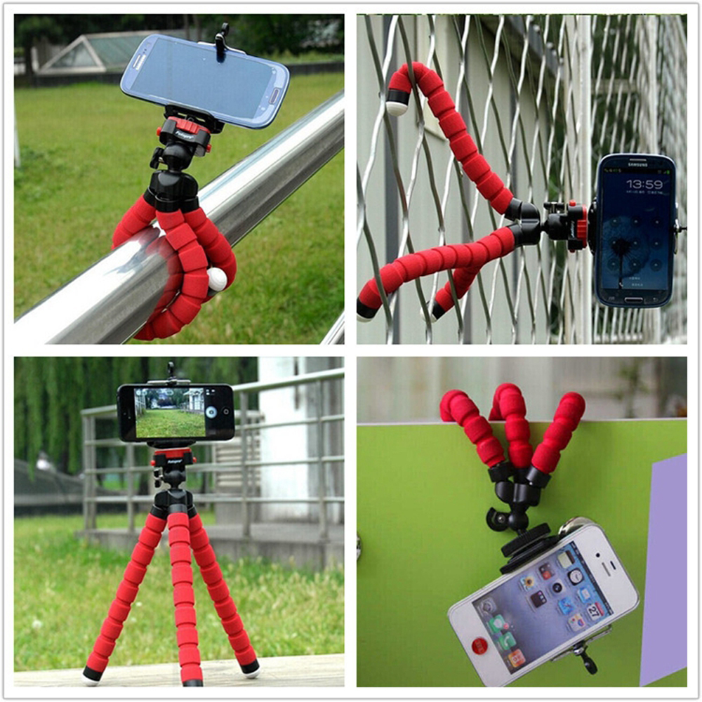Car Phone Holder Flexible Octopus Tripod Bracket Selfie Stand Mount Monopod Styling Accessories For Mobile Phone Samsung Camera(China (Mainland))
