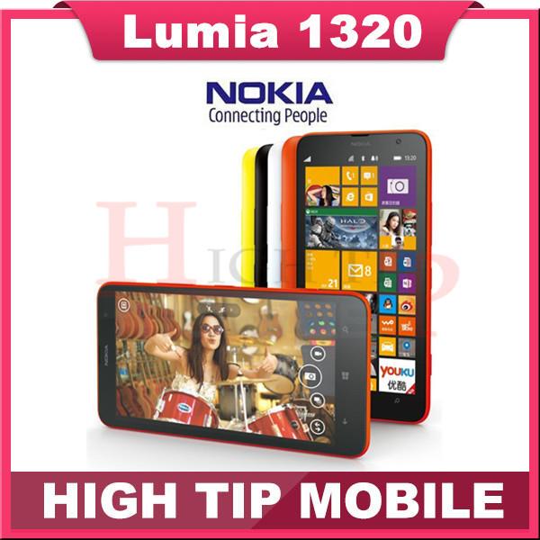 Original Lumia 1320 5MP GPS 1GB RAM 8GB ROM WIFI Bluetooth Unlocked 3G Nokia 1320 6.0 inch Windows Mobile Phone Free Shipping(China (Mainland))