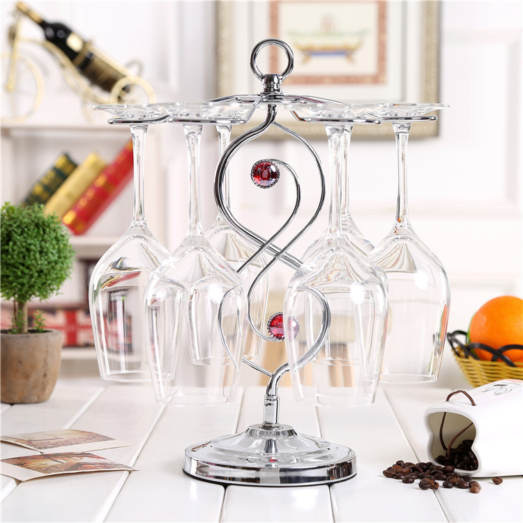Special offer free shipping seven items house upside down cup holder creative European wine rack stainless steel wine goblet cup(China (Mainland))
