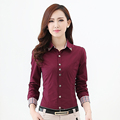 Women Blouses 2016 Office Lady Long Sleeve Blouses Occupational Basic Shirts Clothing Tops 5XL 6XL Plus