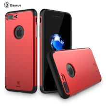 Baseus for iPhone 7 Case for iPhone 7 Plus Cover Luxury PC Combo TPU 2 in 1 Back Cover for iPhone7 Plus Case Protective Shell(China (Mainland))