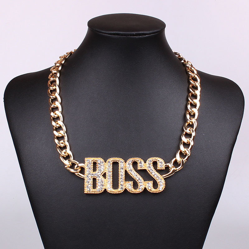 Fashion New 18K Gold Plated Chain Chokers Necklace Without ...