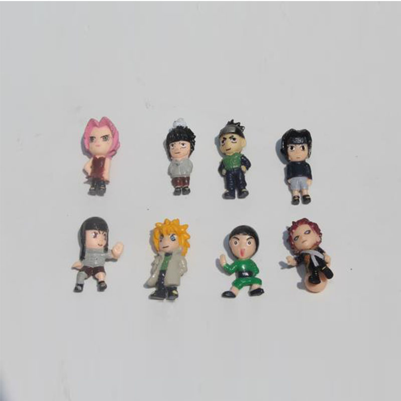 50pcs/lot naruto action figure toys 3-4cm, capsule dolls, boys toys collectibles, gift for kids(China (Mainland))