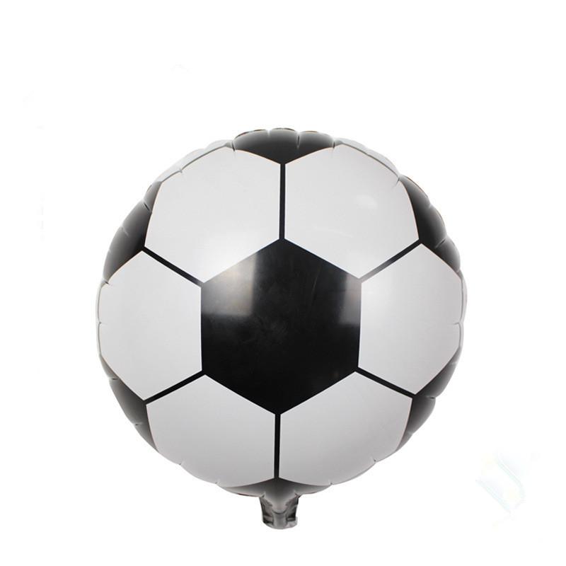 18inch Football Foil Balloon Soccer Ball Round Helium Balloons Mylar Globos Size 45x45cm Free Shipping(China (Mainland))