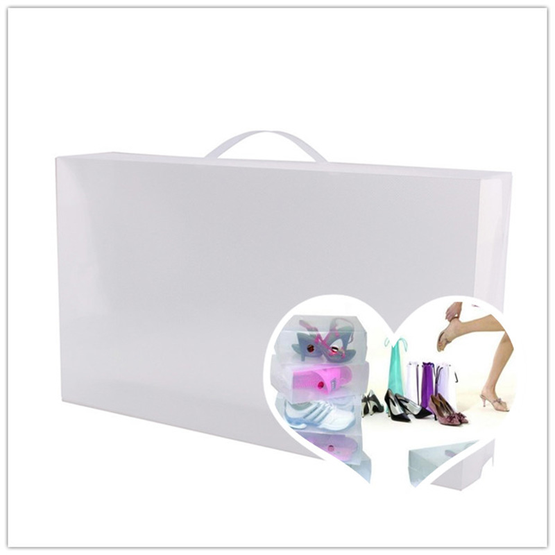 Handheld Clear Plastic Shoe Boxes Shoes Storage Organizer Box Container Boxes(China (Mainland))