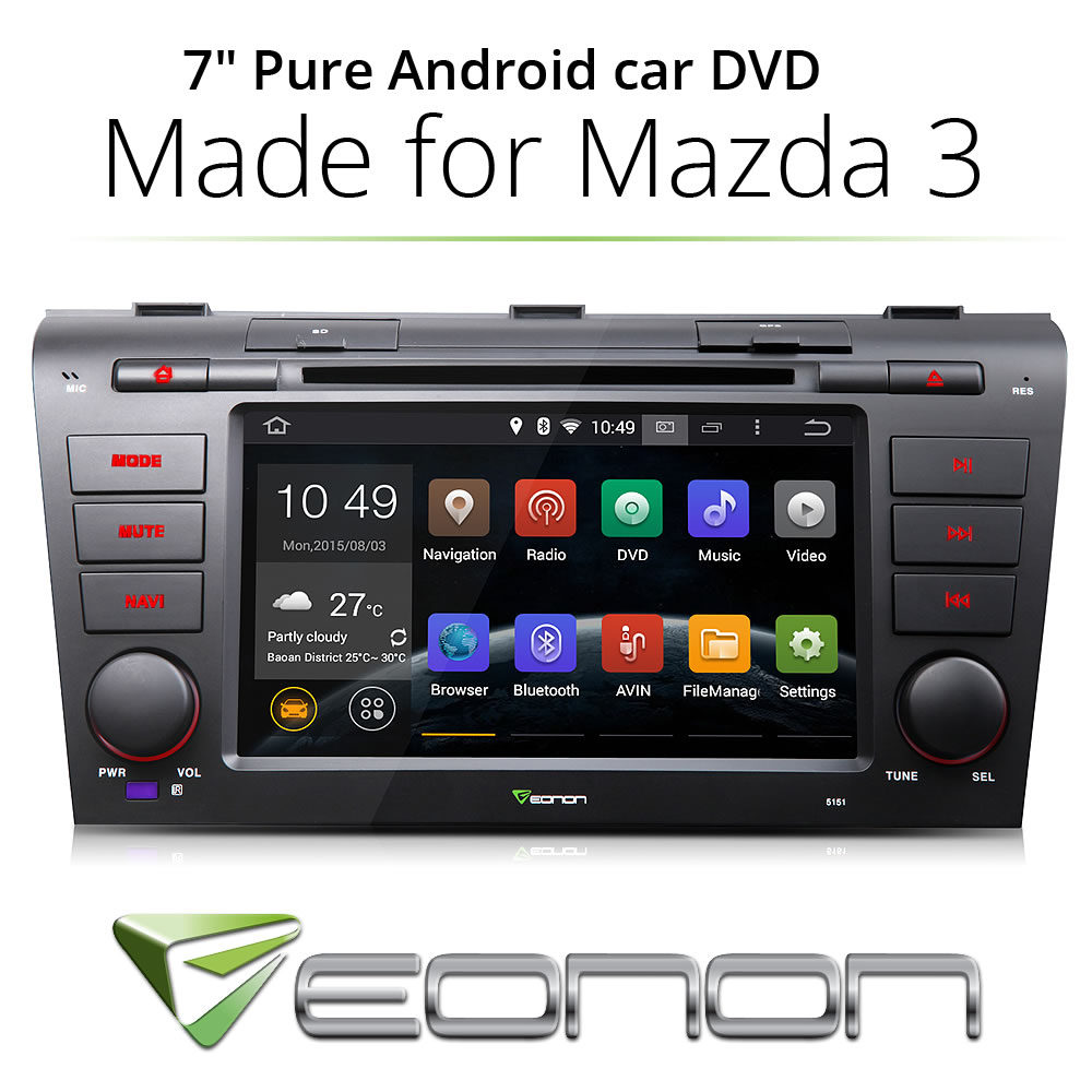 "Quad-Core Android 4.4 for Mazda 3 7"" Car DVD Player GPS Navigation Radio Stereo(China (Mainland))"