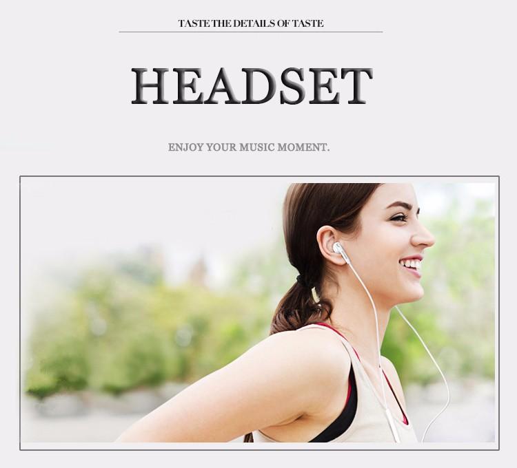 Hot Sale Earphone Headphones Super Bass Headset Hifi Earbuds with microphone for Samsung Galaxy S6 Edge i9800