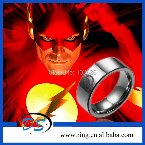2014 New Free Shipping Super Hero The Flash DC Stainless Steel Ring Necklace Pendant For Boy Man Fashion 12pcs/lot<br><br>Aliexpress