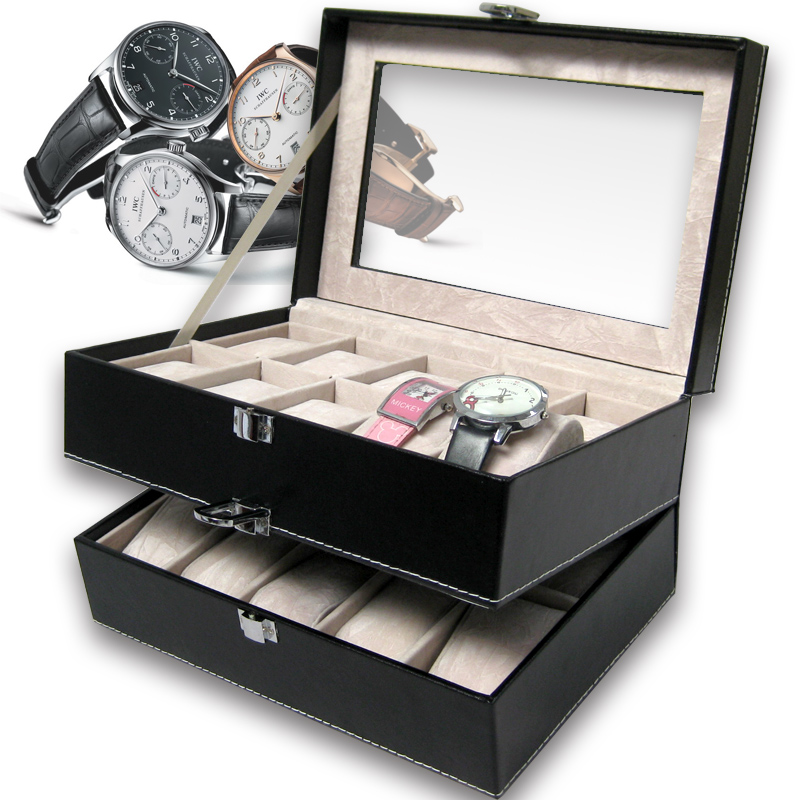 layer 20 grid box watches storage organizer