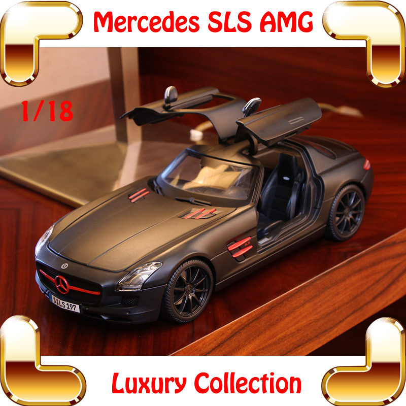 New Arrival Gift Maisto Mercedes SLS AMG 1/18 BIg Metal Model Car Collection Alloy Vehicle For Details Home Decoration Race Toys(China (Mainland))