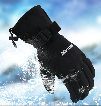 Cool Men Windproof Ski Gloves Waterproof Winter Keep Warm Outdoor Snowboard Glove Riding Motorcycle Gloves Breathable Snow Glove(China (Mainland))