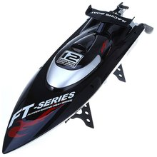 Fei Lun FT012 Brushless Motor 2.4G RC Racing Boat Auto Rectifying Deviation Direction Water Cooling System Function - EU Plug(China (Mainland))
