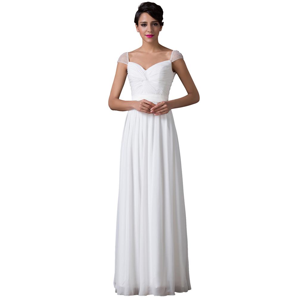 Star Wedding Dress Shop: Aliexpress.com : Buy White Color Cap Sleeve A Line Floor