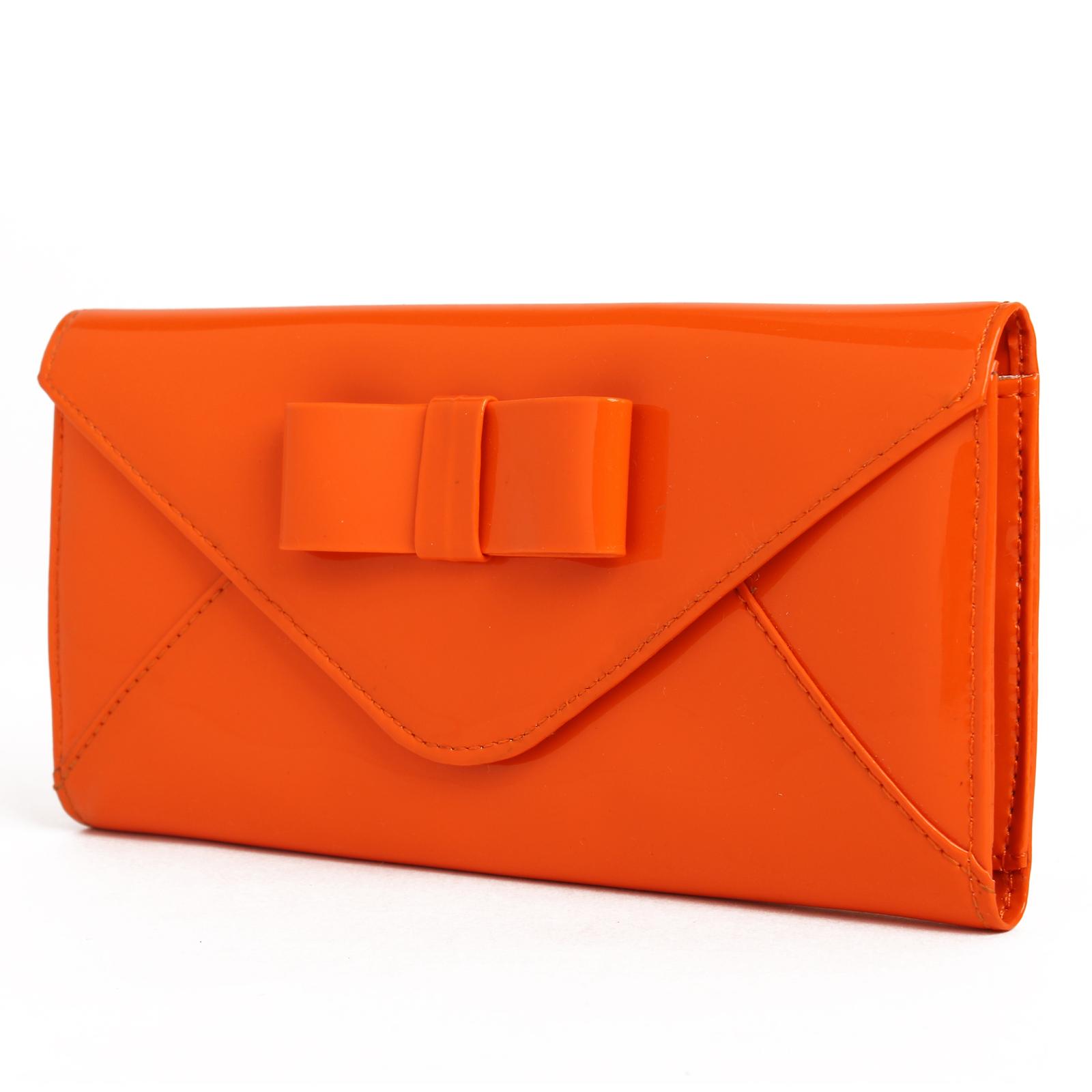 Leady Patent PU Leather Bowknot Envelope Clutch Handbag Women Bag Evening Purse(China (Mainland))