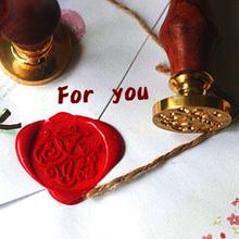 Romantic Valentine's Day Greetings Fancy Wax Seal Imprinted Envelopes Metal Stamp Wax Seal Stamp Custom Design