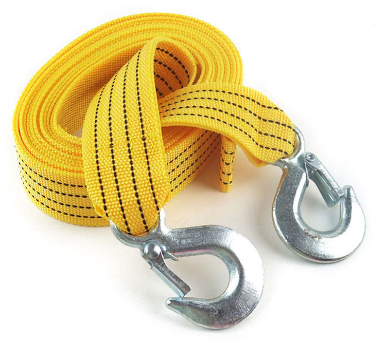 New 3M 4 Tons Car Tow Cable Towing Strap Rope With Hooks Emergency Heavy Duty(China (Mainland))