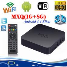 Smart TV BOX Android 4.4 Quad-Core Original MXQ Amlogic S805 Kodi Gotham 3D H.265 Airplay Miracast HD1080PX HDMI Google TVBox
