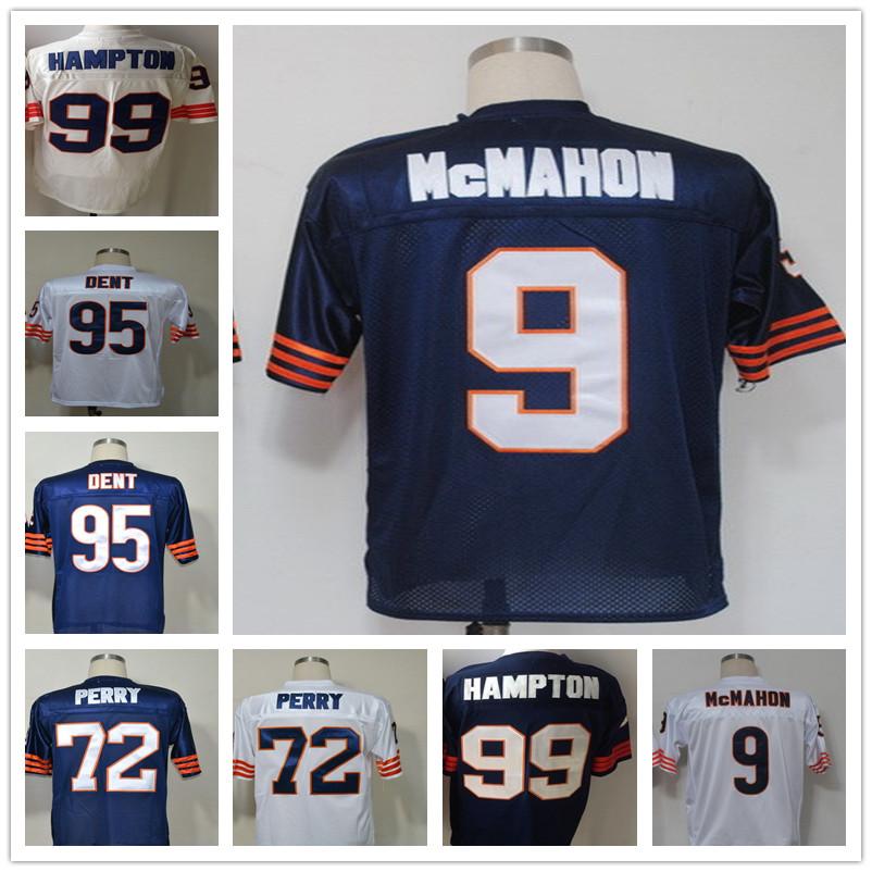 Free Shipping Men's T-shirts Richard Jim Dent William McMahon Perry Throwback HAMPTON Jersey Blue white size 48-56(China (Mainland))