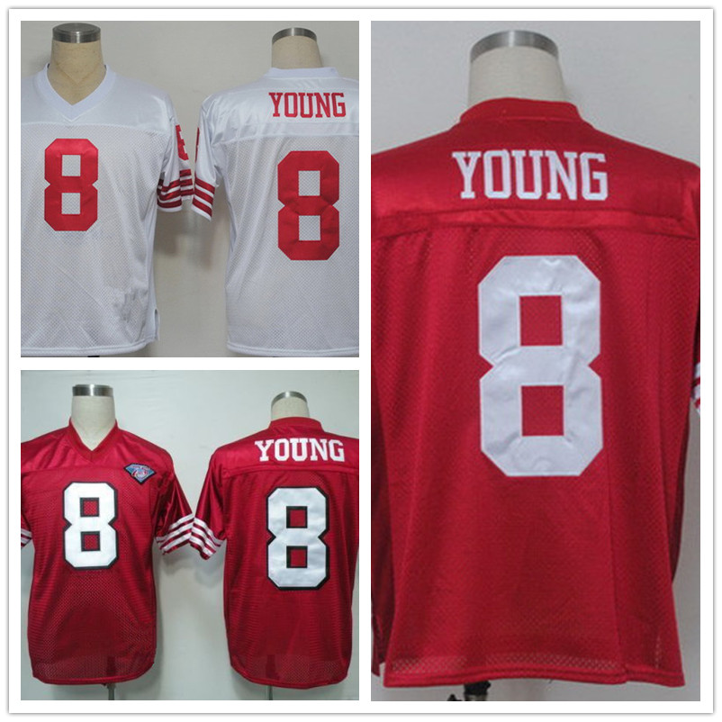 Men's T shirts Steve Throwback Young jersey Hot Sell Free Shipping size 48-56 any player(China (Mainland))