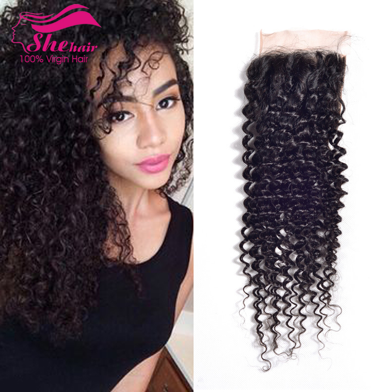 Malaysian Kinky Curly Lace Closure With Bundles Cheap Malaysian Curly Hair With Closure 100% Human Hair Closure Malaysian Hair <br><br>Aliexpress