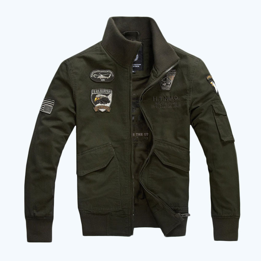2015 Brand Casual Men Jackets And Coat Military jacket ...