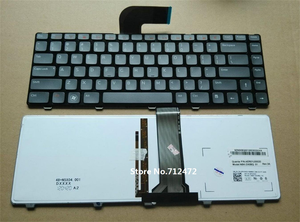 original Free Shipping Brand new Laptop US Keyboard With backlit For DELL Vostro 3350 3450 3460 3550 3555 3560 V131(China (Mainland))