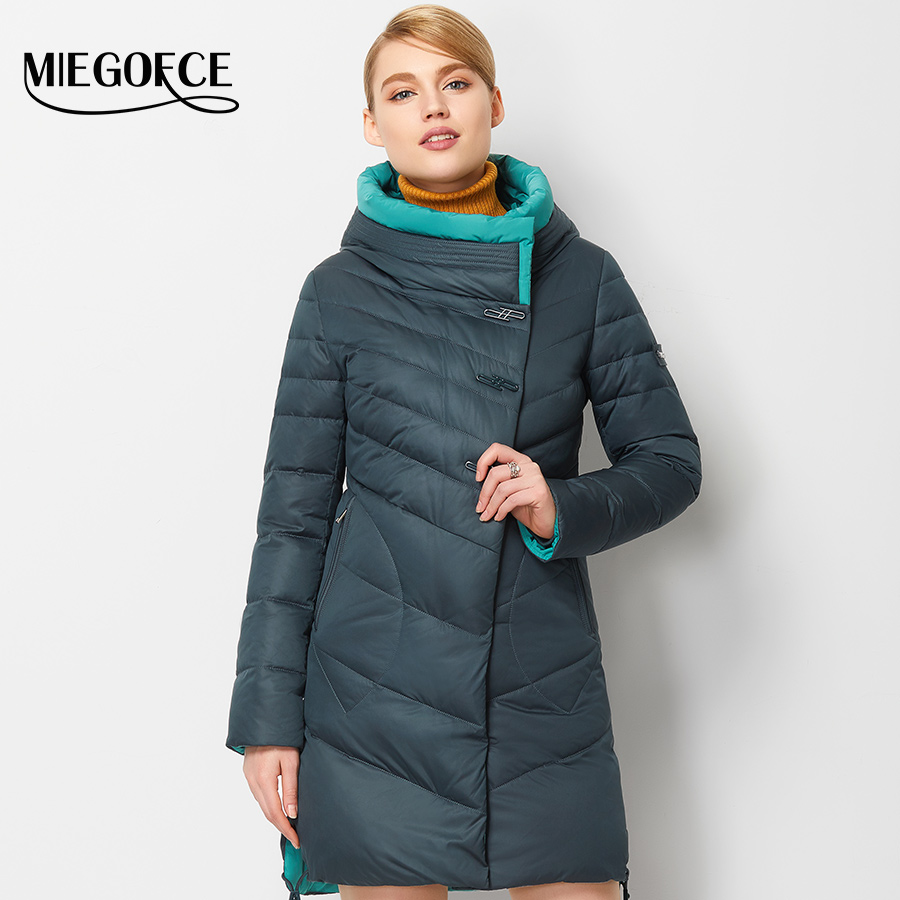 MIEGOFCE 2016 New Winter Collection Winter Women Coat Jacket Warm High Quality Woman Down Parka Winter Coat(China (Mainland))