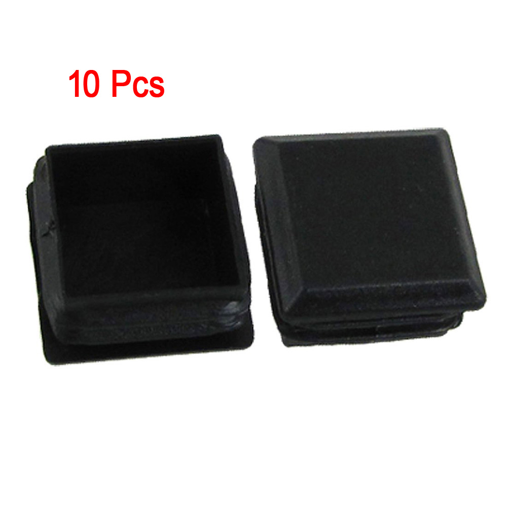 PHFU Wholesale 10 pcs Black Plastic Square Tube Inserts End Blanking Cap 25mm x 25mm<br><br>Aliexpress