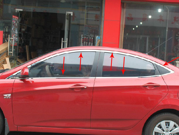 2010-2011 / Solaris VERNA a modern high quality coating stainless steel window Settings (+ + triangle, after a full set of ten.)(China (Mainland))