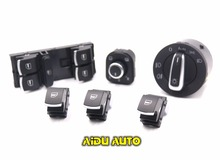 Buy EU Brushed Auto Headlight Switch+Side Mirror Master Window Switch FOR VW Tiguan Passat B6 CC Golf 5 6 Jetta MK5 MK6 for $35.00 in AliExpress store