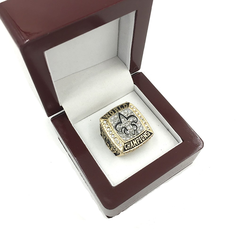 Replica 2009 Super Bowl New Orleans Saints Championship Ring Football Alloy Sport Rings Men Best Gift Size 8 to 14 HC35(China (Mainland))