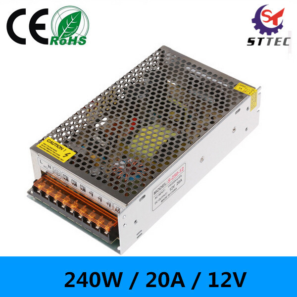 High quality 20A power supply adapter 12V 240W power supply transformers for LED(China (Mainland))